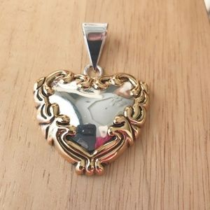 Jewelry - Heart Shaped Pendant Victorian Valentine Vintage